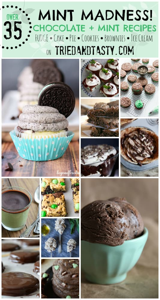 35 Chocolate Mint Recipes Collage // Tried and Tasty