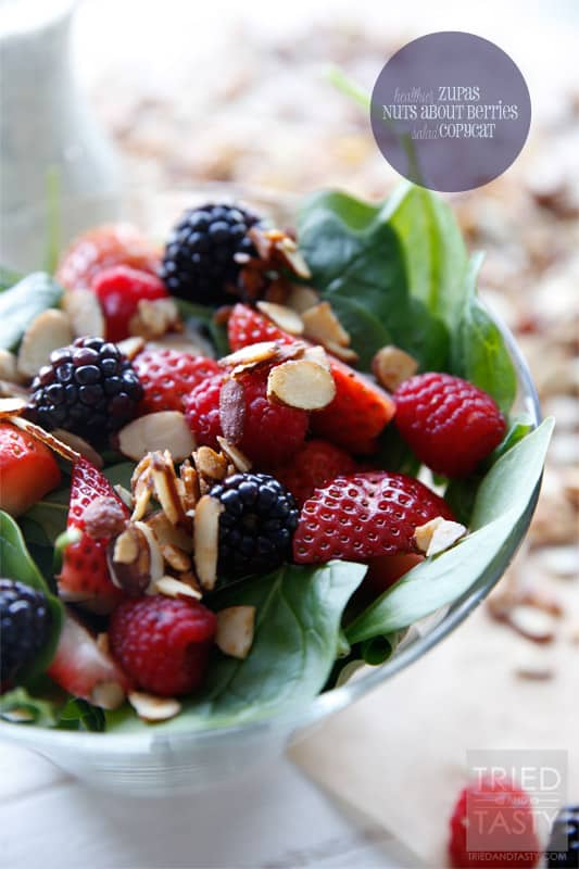 Healthier Zupas Nuts About Berries Salad Copycat // Tried and Tasty