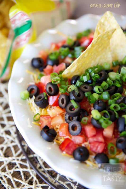 Seven Layer Dip // Tried and Tasty