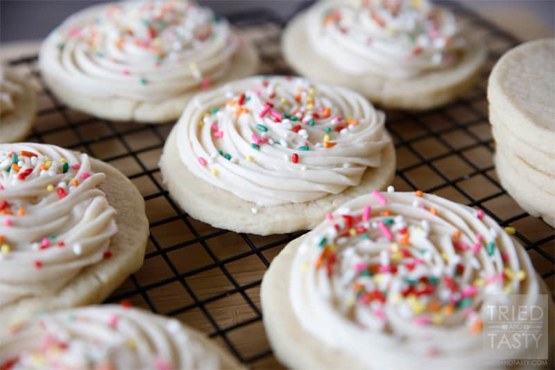 Sugar Cookies with Vanilla Buttercream Frosting // A delicious sugar cookie recipe and frosting that you'll use time and time again. | Tried and Tasty