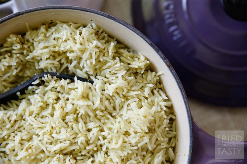 Copycat Cafe Rio Cilantro Lime Rice // Tried and Tasty
