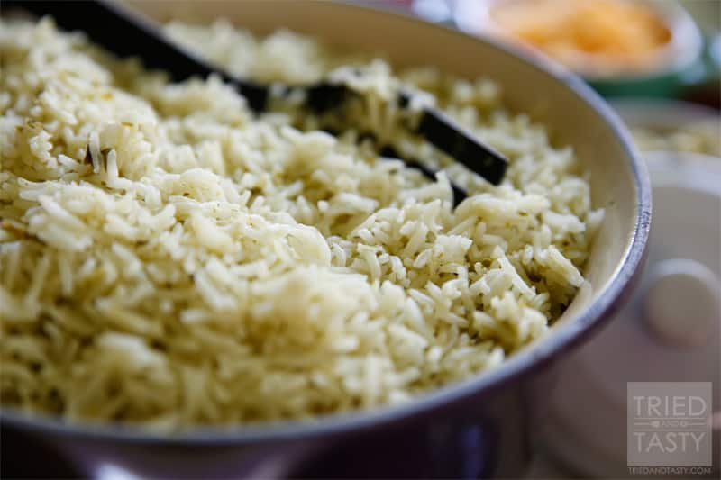 Copycat Cafe Rio Cilantro Lime Rice // The delicious flavors of the wildly popular Cafe Rio in the comfort of your own home. Have this Cilantro Lime Rice with your next Mexican meal.   Tried and Tasty
