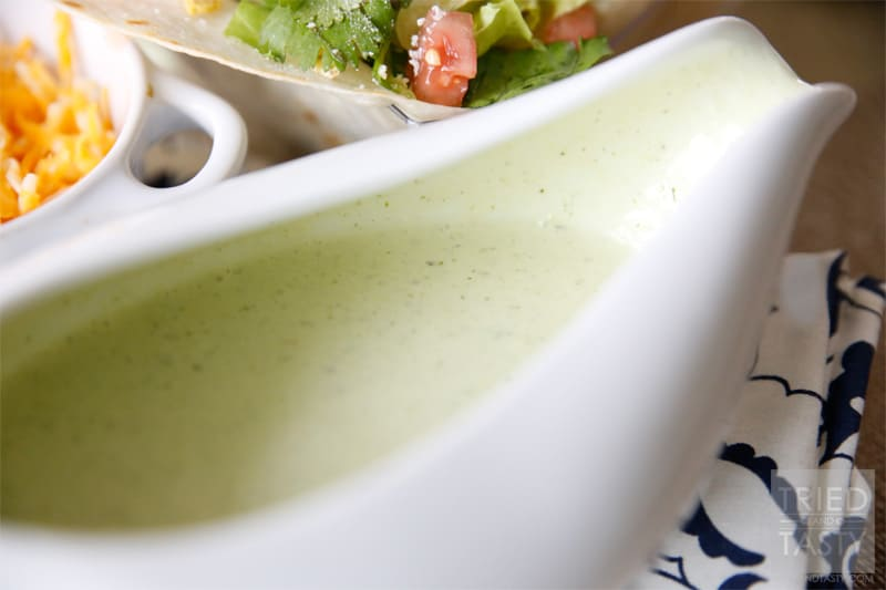 Copycat Cafe Rio Tomatillo Dressing // Cafe Rio Tomatillo Dressing is legendary. Now you can have it any time you want to! | Tried and Tasty