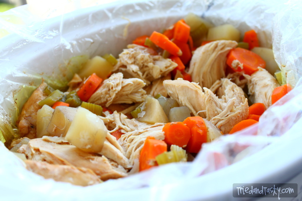 Crock Pot Chicken Stew // A great meal to throw in your crock pot that will be ready for you in a matter of hours with little to no effort at all! | Tried and Tasty