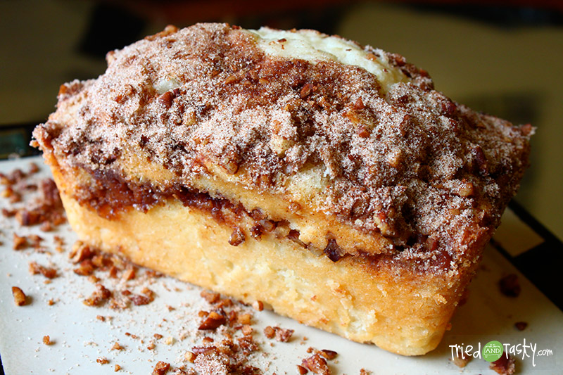 Cinnamon Swirl Bread // This Cinnamon Swirl Bread is so addicting!  I envision enjoying this on a Christmas morning! | Tried and Tasty