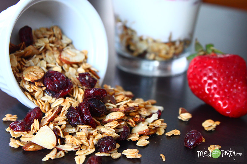 Easy Toss and Bake Granola // This granola recipe is too easy to put together.  And it's totally customizable to your liking! | Tried and Tasty