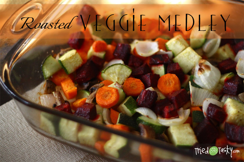 Roasted Veggie Medley // This simple side dish is easy and goes with so many meals! | Tried and Tasty