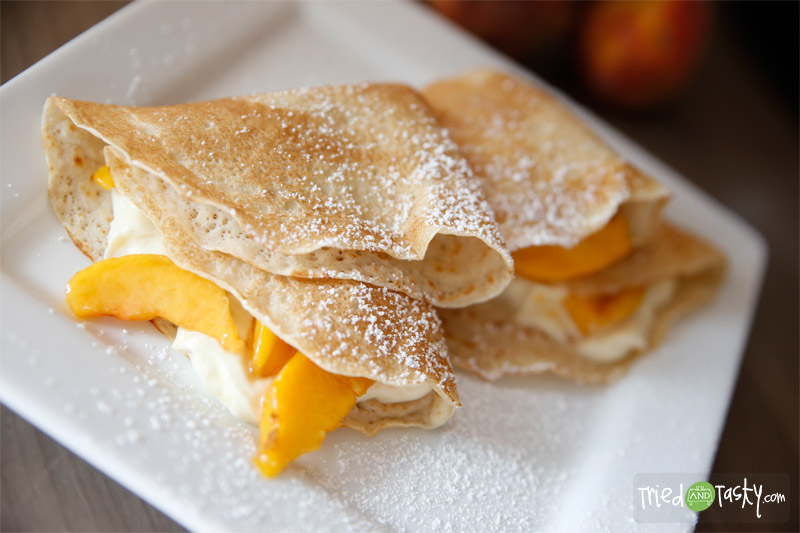 Buttermilk Crêpes // These buttermilk crepes make for a sweet treat for breakfast, brunch, or dessert! | Tried and Tasty