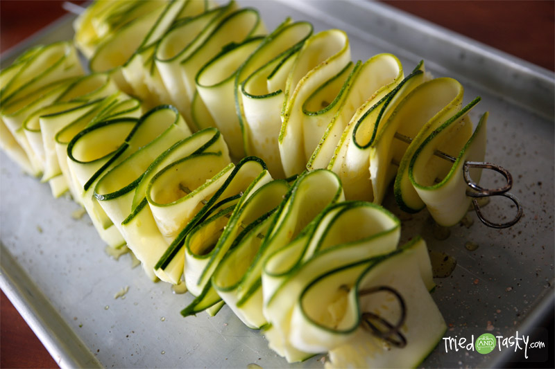 Grilled Zucchini Ribbons // TriedandTasty