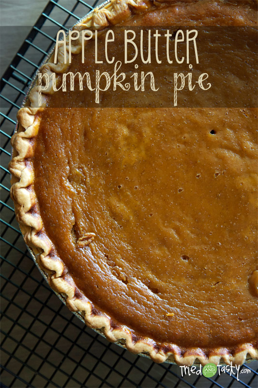 Apple Butter Pumpkin Pie // A delicious new twist on your traditional pumpkin pie! | Tried and Tasty
