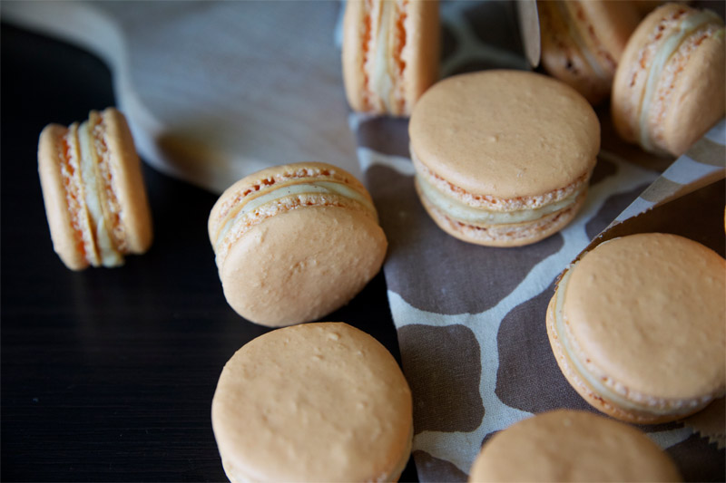 Pumpkin Buttercream French Macaroons // These fun little pumpkin cookies may be a lot of work, but they're worth it! | Tried and Tasty