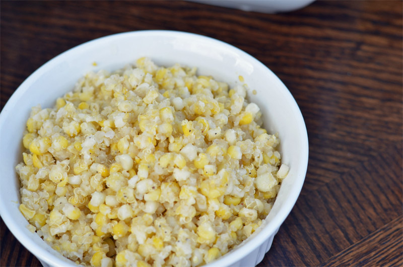 Quinoa and Corn // This Quinoa & Corn is a lighter dish that is perfect for the holidays! | Tried and Tasty