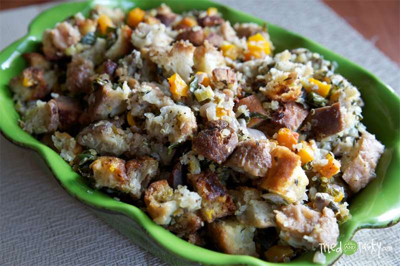 Butternut Squash | Quinoa | Kale Stuffing Recipe // If you are looking for a fantastic stuffing recipe to add to your holiday menu. Look no further. This stuffing recipe will have your tastebuds dancing! | Tried and Tasty