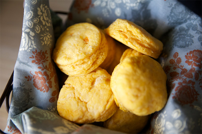 Paula Deen's Fluffy Sweet Potato Biscuits // These fluffy sweet potato biscuits are buttery and perfect! | Tried and Tasty