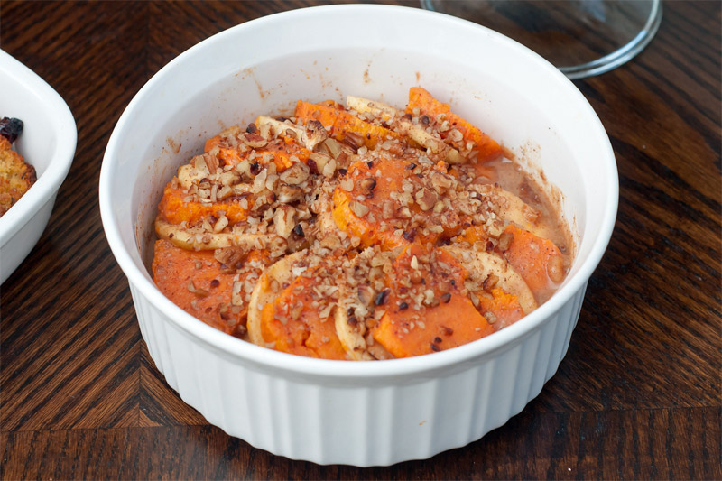 Honey Glazed Apple & Sweet Potato Casserole // TriedandTasty