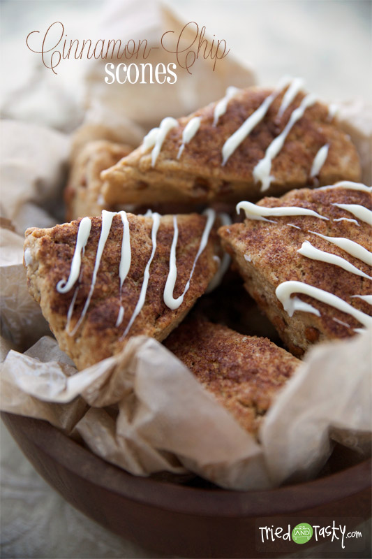 Cinnamon-Chip Scones // TriedandTasty