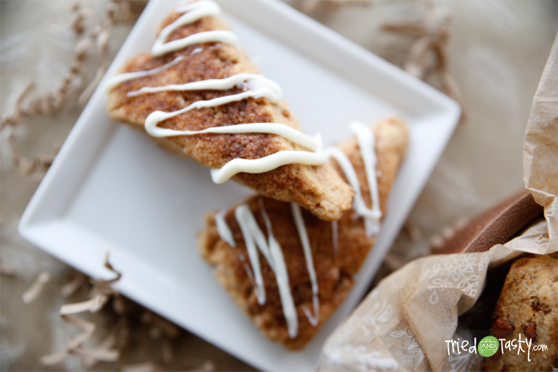 Cinnamon-Chip Scones // These Cinnamon Chip Scones are perfect for any holiday breakfast or brunch! | Tried and Tasty