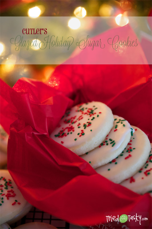 Cutlers Glazed Holiday Sugar Cookies // The most perfect sugar cookie - just like the real deal! | TriedandTasty