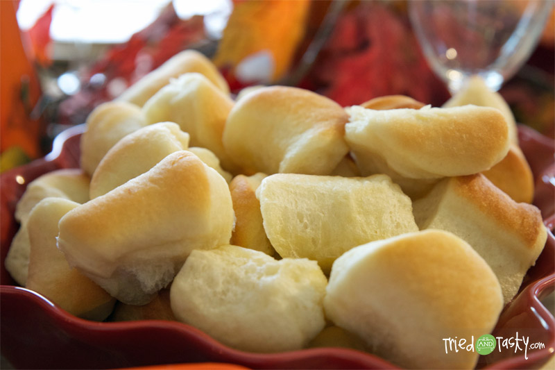 Holiday Dinner Rolls // This is the perfect recipe for a bread machine. Try them when they're fresh and hot from the oven. Delicious! | Tried and Tasty
