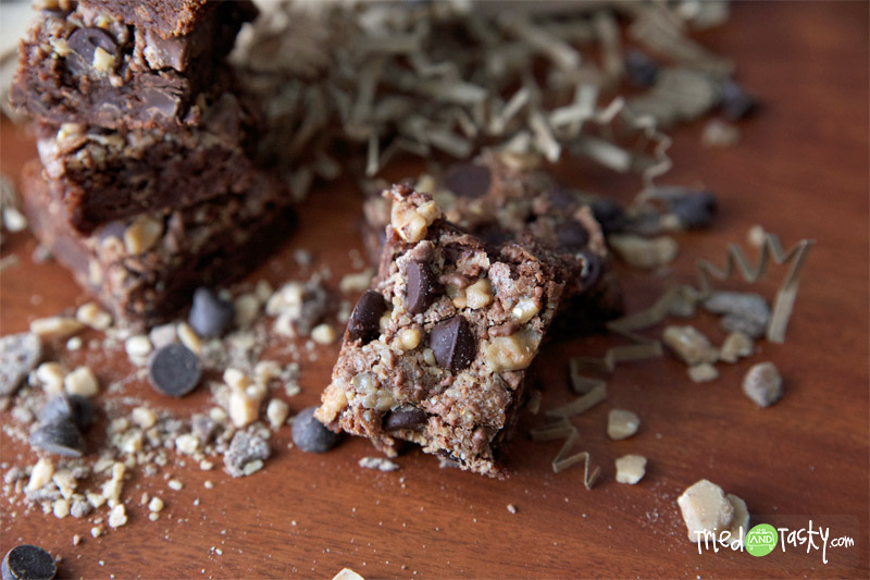 The Best Toffee & Chocolate Chip Brownies // These are so decadent, so chocolaty, so wonderful. The toffee with the chocolate chips is a combination out of this world. | Tried and Tasty