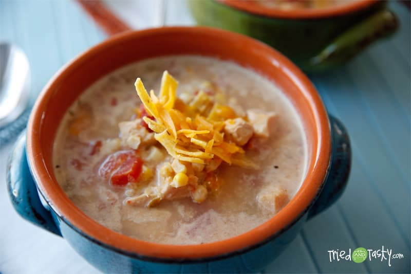 Slow cooker mexican corn chicken soup tried and tasty for Mexican fish soup recipe