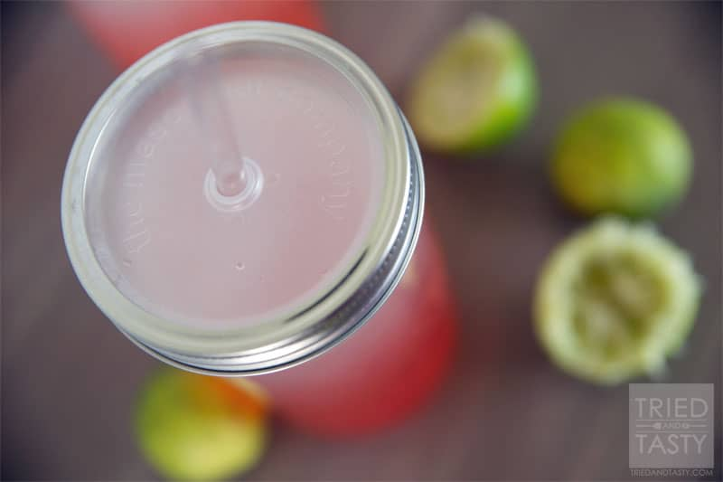 Healthy Cherry Limeade // A delicious variation of my Lemonade Cleanse that will satisfy your typical sugar-laden Cherry Limeade craving! | Tried and Tasty