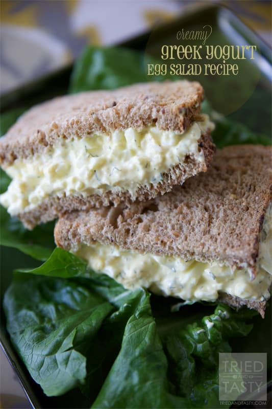 Creamy Greek Yogurt Egg Salad Recipe // Tried and Tasty