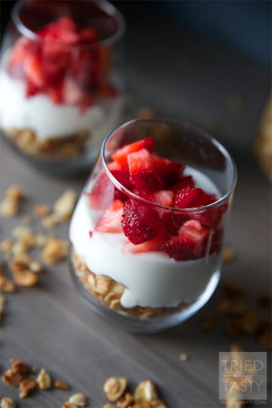 Fruit & Yogurt Breakfast Parfait with Honey Almond Granola // Tried and Tasty
