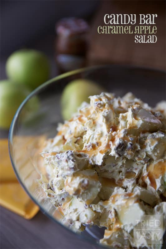 Candy Bar Caramel Apple Salad // Tried and Tasty