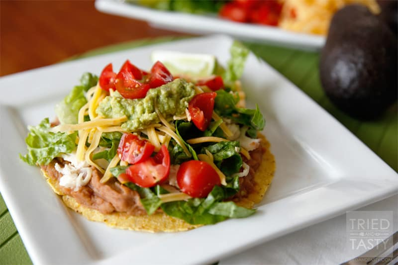 Dinner Ideas: Quick & Easy Chicken Tostadas // Tried and Tasty