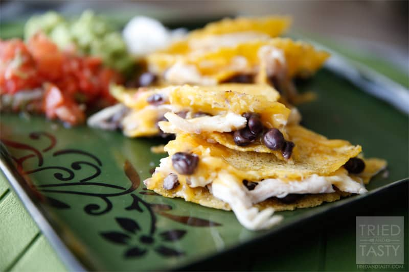 Quick & Easy Black Bean, Cheese & Chicken Quesadillas // Tried and Tasty