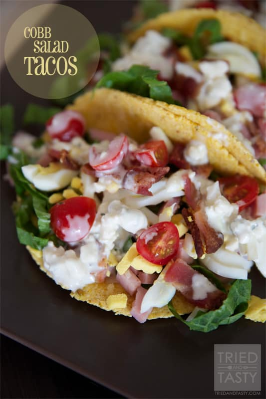Cobb Salad Tacos // A great quick & easy meal that is uniquely tasty! | Tried and Tasty
