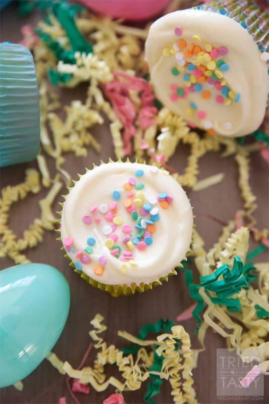 Creamy Vanilla Whipped Cream Cheese Frosting // The most light and creamy frosting you'll ever taste!   Tried and Tasty