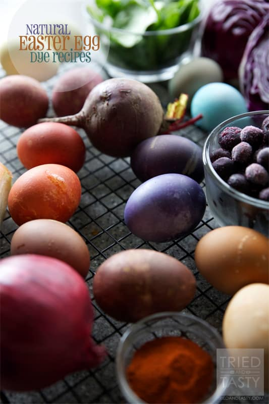 Natural Easter Egg Dye Recipes - Tried and Tasty