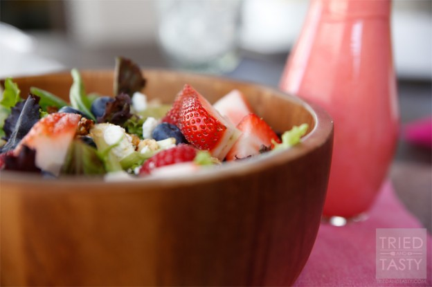Very Berry Salad with Honey Sweetened Raspberry Vinaigrette // Tried and Tasty