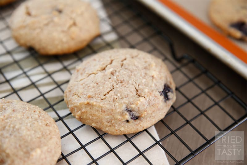 Grain Free Blueberry Cookies // A grain-free/gluten-free cookie like scone. Perfect healthy alternative to the unhealthy option. Delicious for breakfast, snack, or a quick little treat. These Grain Free Blueberry Cookies are fantastic! | Tried and Tasty