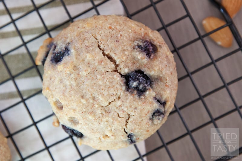 Grain Free Blueberry Cookies // Tried and Tasty