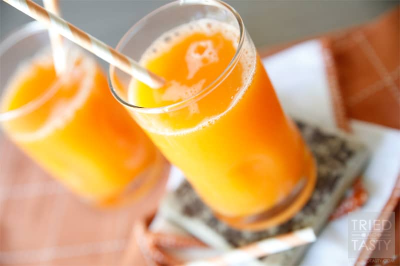 Fresh Pineapple Surprise // A delicious fresh juice that is a combination of fun fruits and even a vegetable for a sweet surprise!   Tried and Tasty