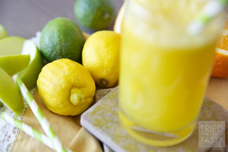 The Orange/Apple Wake-Me-Up // The most delicious way to start your day. Or enjoy mid-day, or at the end of the day! Anytime you want this splendid citrus juice, you'll be sure to feel a little extra energy!   Tried and Tasty