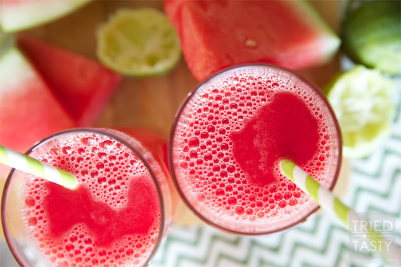 Cool Watermelon Refresher // This delicious juice screams summertime. If you want a little summertime in your heart, make this Watermelon Refresher any time of the year! | Tried and Tasty