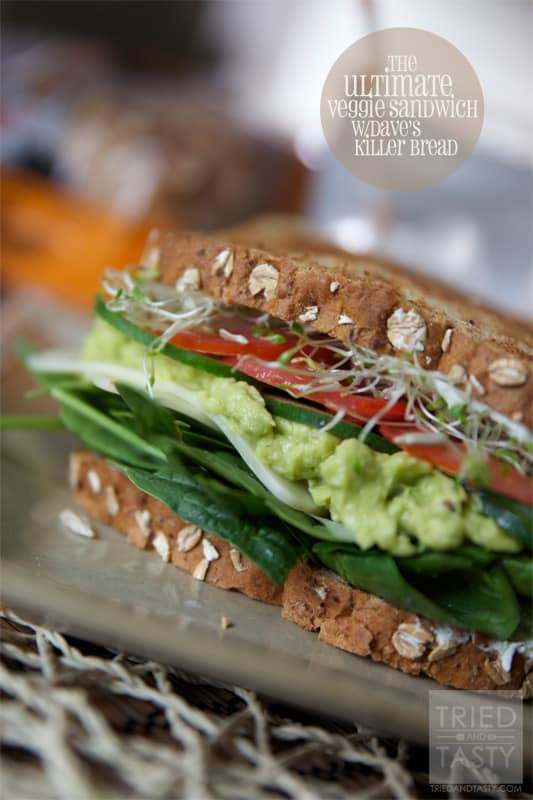 The Ultimate Veggie Sandwich // Tried and Tasty