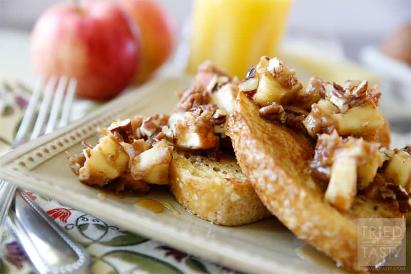 Caramel Apple French Toast // Tried and Tasty