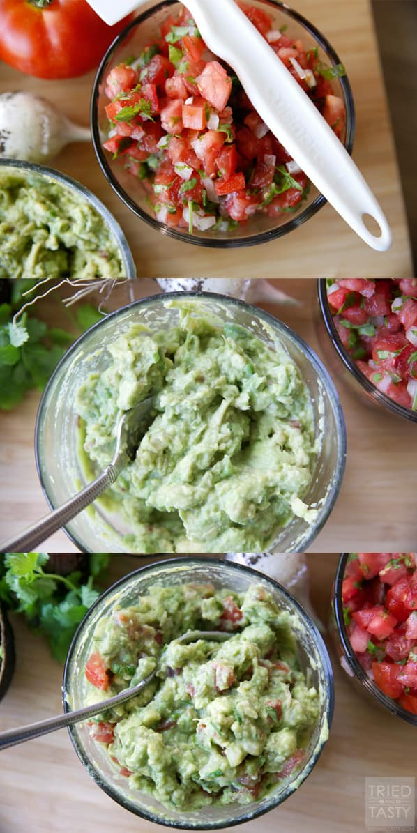 Copycat Cafe Rio Guacamole // Guacamole is the perfect topping for all of your favorite Mexican dishes. Anything from enchiladas to tacos, burritos to salads. Enjoy this guacamole recipe next time you're feasting on your traditional favorites! | Tried and Tasty