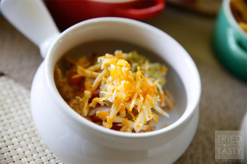 Copycat Cafe Rio Tortilla Soup // This Copycat Cafe Rio Tortilla Soup is just like the restaurant favorite! It's flavorful and delicious. Next time you're enjoying Cafe Rio at home, made in your kitchen, whip this up for a tasty appetizer! | Tried and Tasty