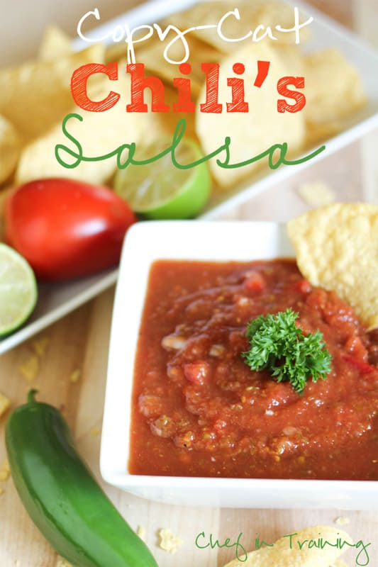 Copycat Chili's Salsa // Chef In Training