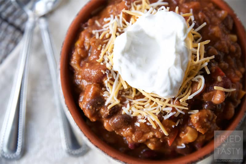 Hearty Turkey Chili // Tried and Tasty