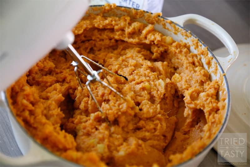 I love mashed sweet potatoes around the holidays, and really love them loaded with brown sugar, butter, and marshmallows. This Honey-Sweetened Apple & Sweet Potato Mash is an excellent alternative that is a great way to curb your craving while still being healthy!