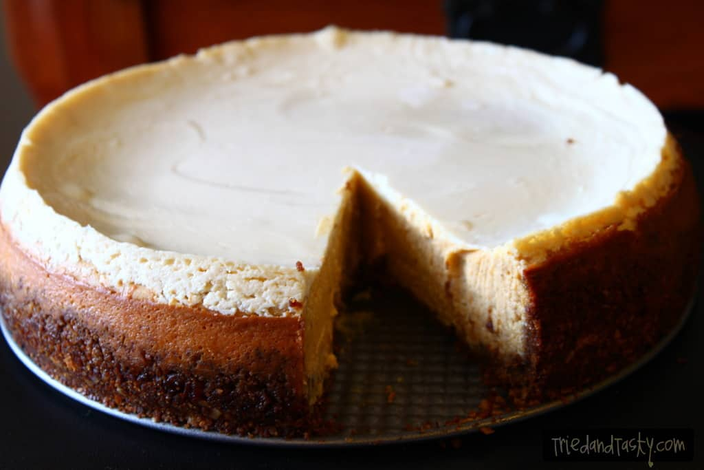 Pumpkin Cheesecake with Gingersnap-Pecan Crust // Tried and Tasty