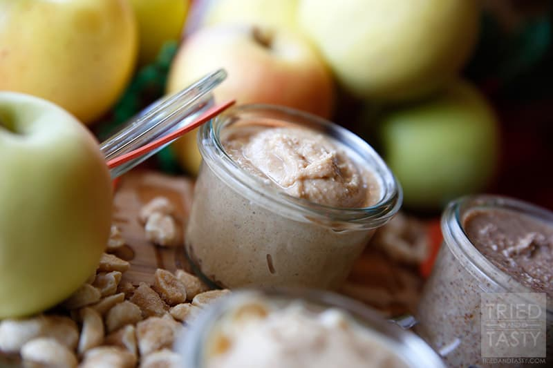 Homemade Nut Butter // Nut butter is so easy to make, and oh so delicious! Nothing better than fresh honey roasted peanut butter or cashew butter to slap on an apple slice to make your day!   Tried and Tasty