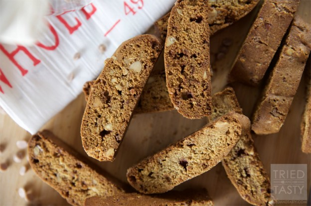 Whole Wheat Cinnamon Chip Almond Biscotti // Tried and Tasty
